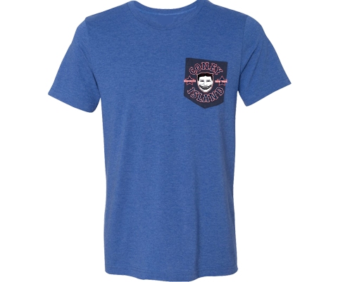 Vintage Tillie Adult Pocket Tee in Blue