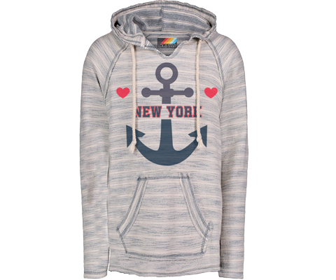 New York Heart Anchor Nautical Baja Hoodie