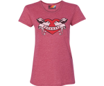 Brooklyn Lovebirds Lipstick Pink Tee