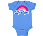 Brooklyn Rainbow Blue Onesie