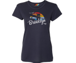 Brooklyn Rainbow Surfer Navy Tee