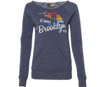 Brooklyn Rainbow Surfer Heather Blue Sweatshirt