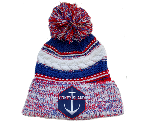 Coney Island Anchor Pom Pom Beanie