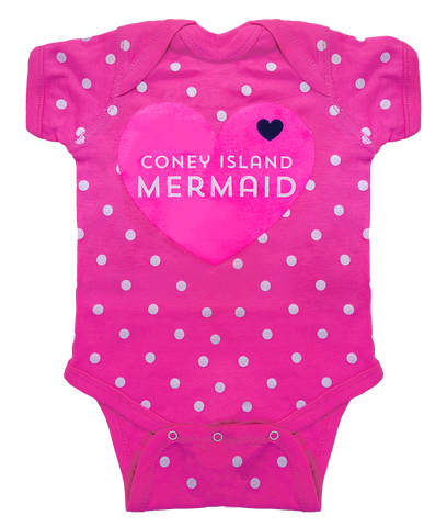 Coney Island Mermaid Heart Romper