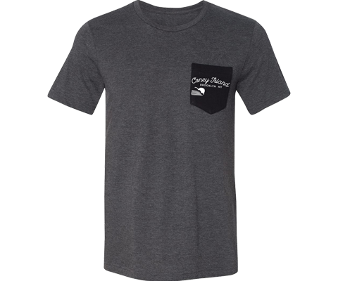 Coneytown Adult Pocket Tee in Gray