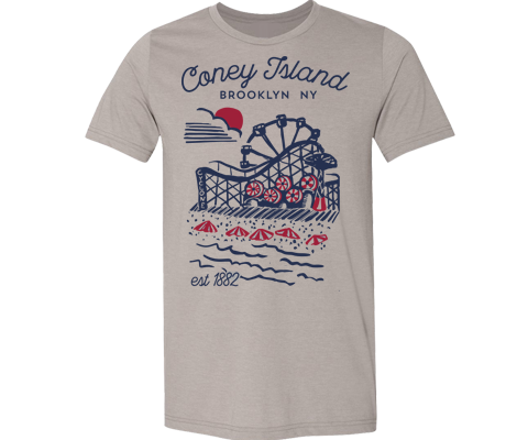 Coneytown Adult Tee in Stone