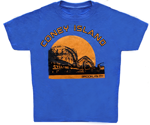 Coney Island Cyclone Sunset Kids Tee