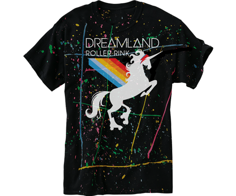Dreamland Splatter Paint Adult Tee
