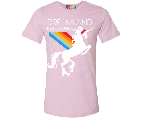 Dreamland Roller Disco Prism Pink Tee