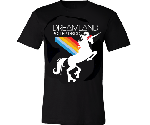 * Dreamland Roller Rainbow Unicorn Adult Tee