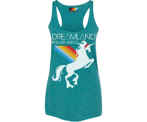 Dreamland Roller Disco Deep Teal Tank
