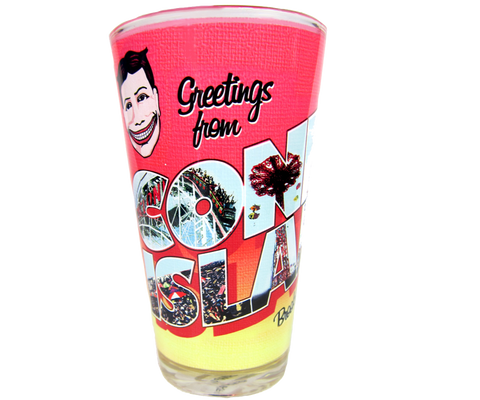 Greetings From Coney Island Pint Glass