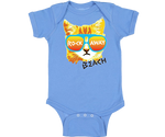 Rockaway Rad Cat Baby Blue Onesie