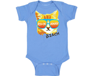 Rockaway Rad Cat Blue Baby Onesie
