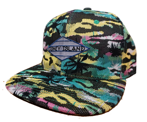Load image into Gallery viewer, Coney Island Aqua Digital Tropical Surfer Hat