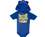 Rockaway Rad Cat Hooded Baby Onesie with Ears