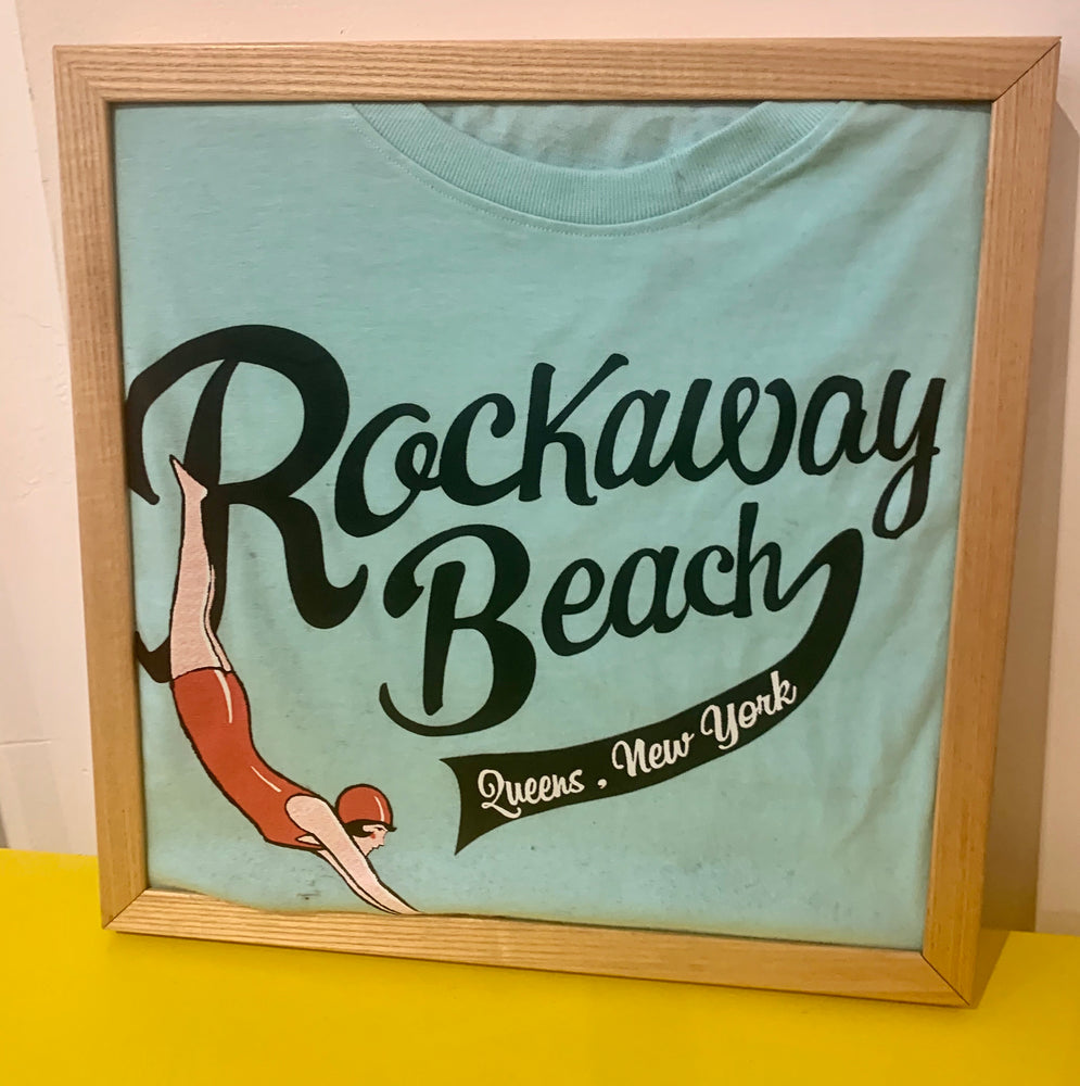 Commemorative Tee Shirt in Wood Frame with shirt