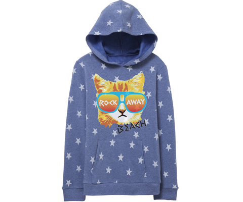 Rockaway Rad Cat Fleece Kids Star Sweatshirt