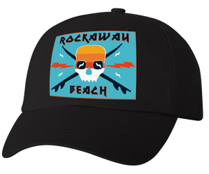 Load image into Gallery viewer, Rockaway Surfer Skull Embroidered Back Hat