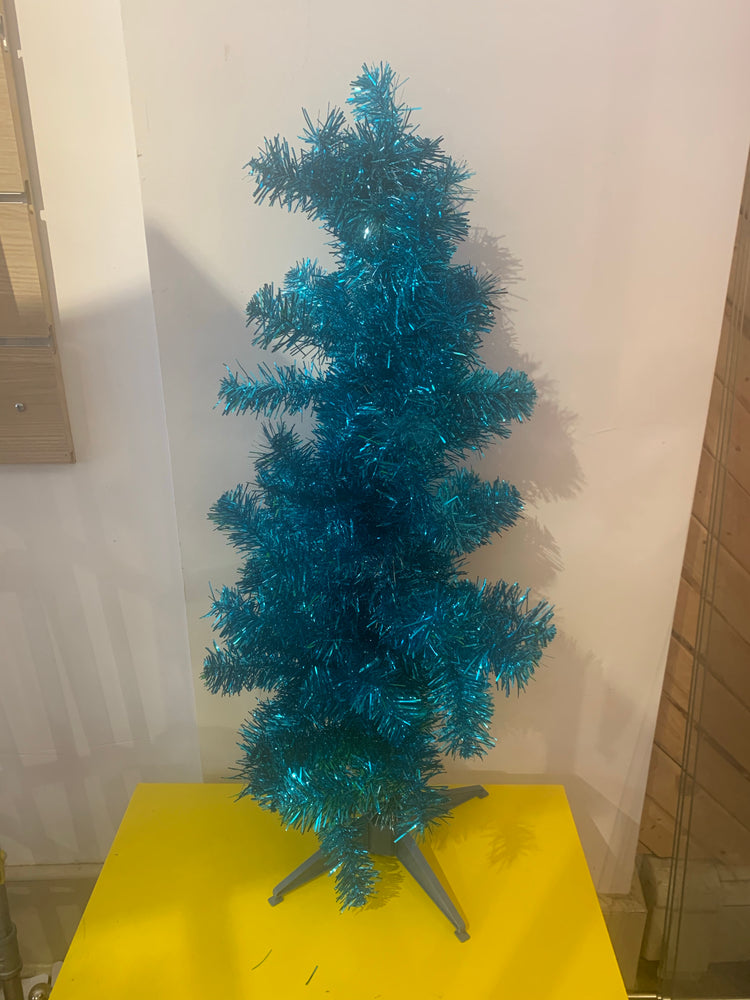 Metallic Aqua Christmas Tree