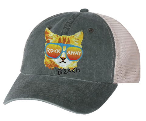 Rockaway Rad Cat Gray/Stone Mesh Back Hat