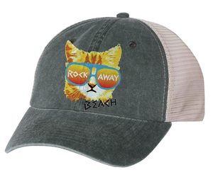 Load image into Gallery viewer, Rockaway Rad Cat Gray/Stone Mesh Back Hat