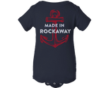 Made in Rockaway Navy Blue Baby Onesie