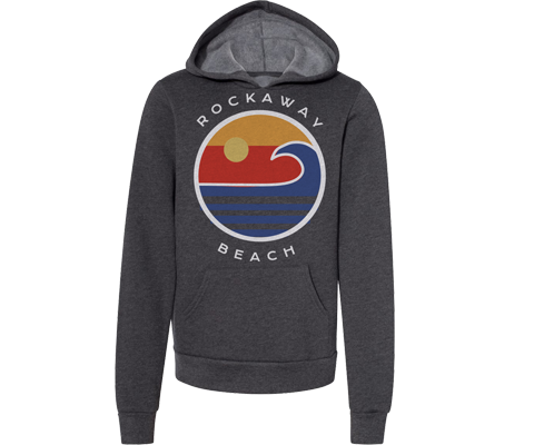 Rockaway Globe Fleece Heather Gray Adult Hoodie