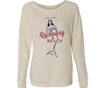 Rockaway Surf Mermaid Cozy Pullover Cream Fleece