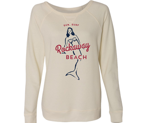 Load image into Gallery viewer, Rockaway Surf Mermaid Cozy Pullover Cream Fleece