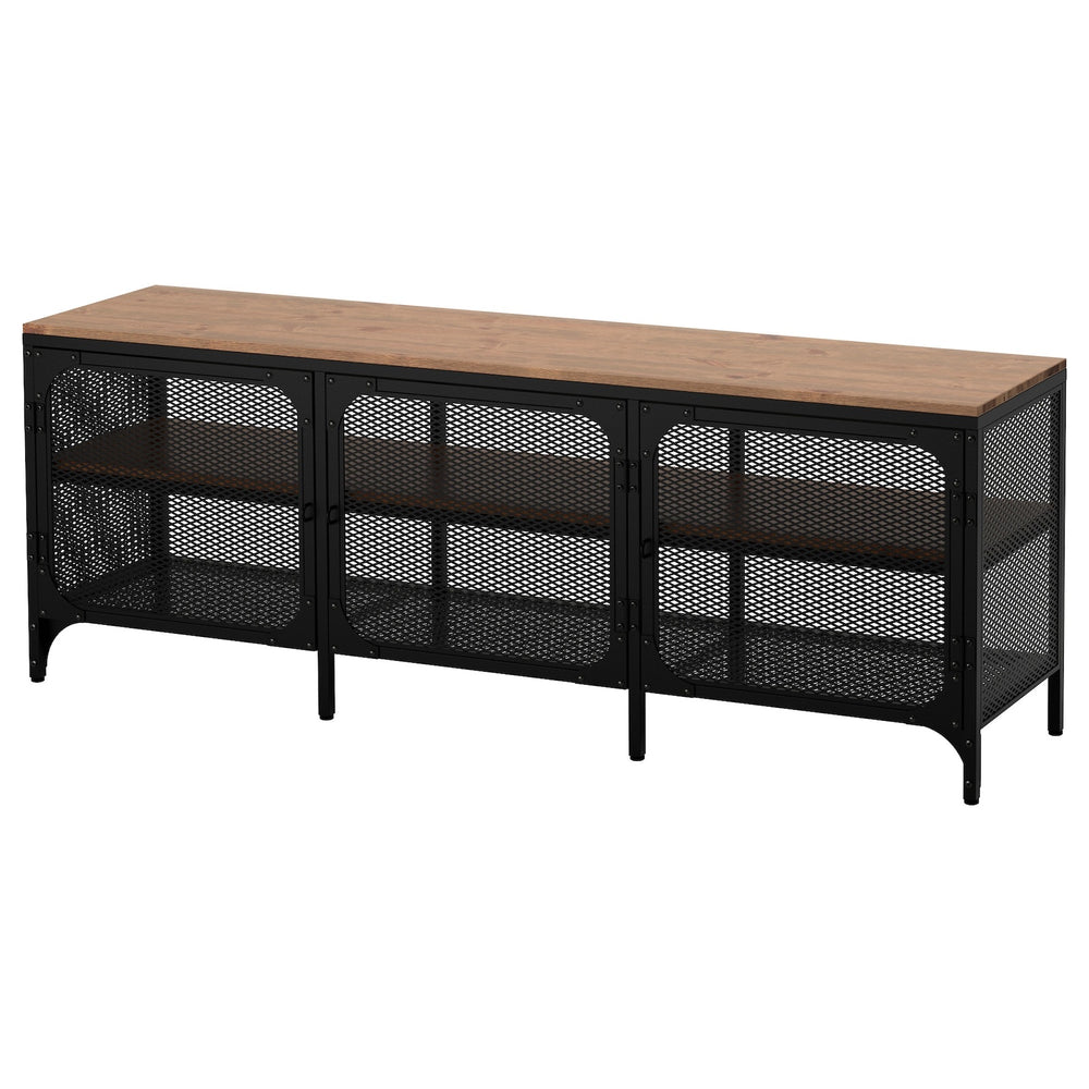 Metal and Wood TV Stand