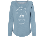 Rockaway Sea Mermaid Slate Wave Wash Fleece Crew Neck