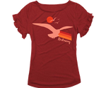 Rockaway Seagull Sunset Girls Ruffle Tee
