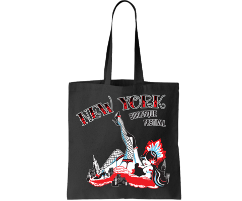 New York Burlesque Festival 2017 Black Tote Bag
