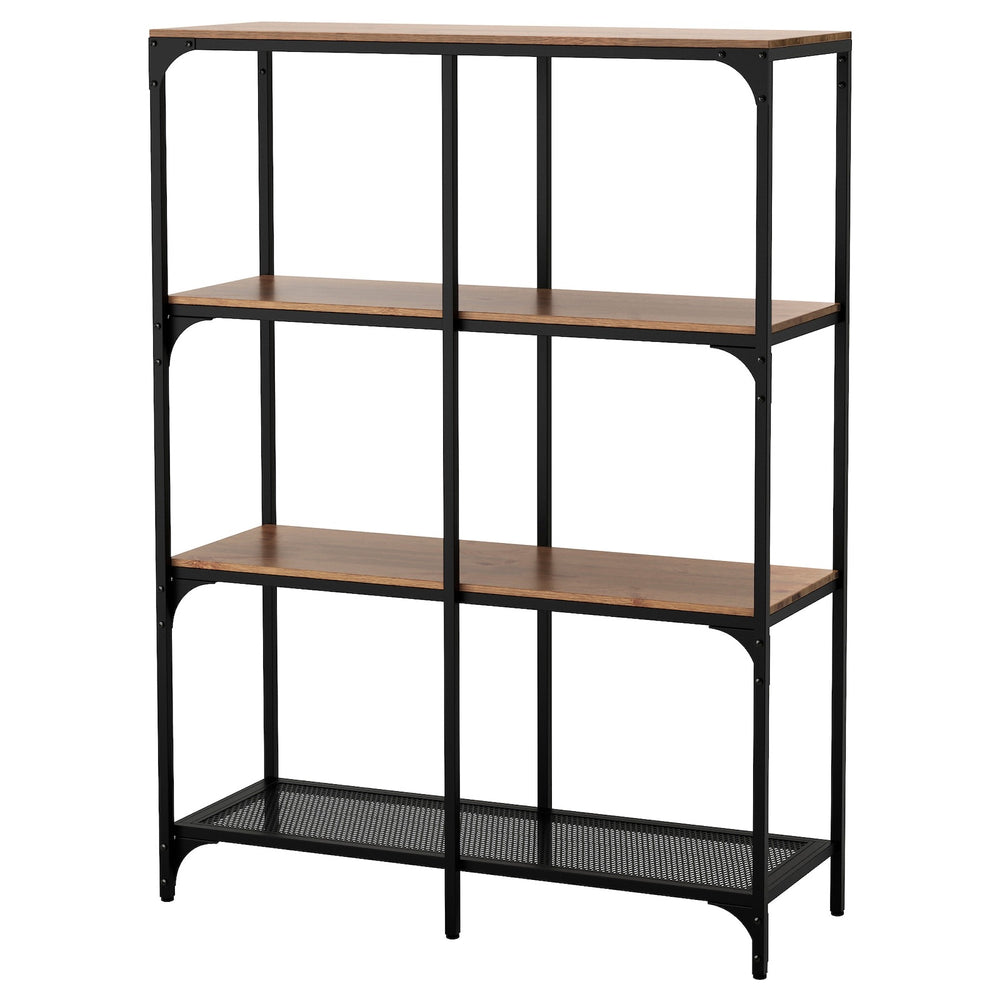 Metal and Wood Shelving Display