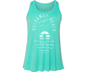 Sea Mermaid Aqua Girls Racerback Flowy Tank