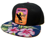 Coney Island Surfer Girl Tropical Brim Hat