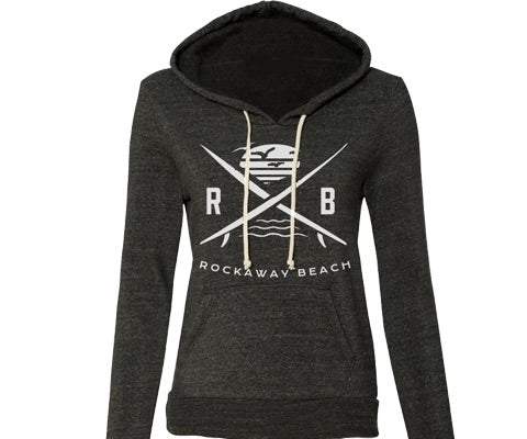 Rockaway Surfer X Dark Gray Fleece Hoodie