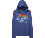 Rockaway Rainbow Surfer Hooded Long Sleeve Youth Tee