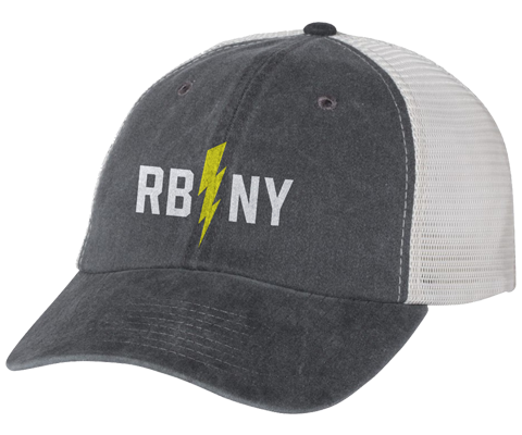 Rockaway Bolt Gray/Stone Mesh Back Hat
