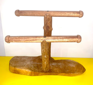 Two Level Natural Wood Bracelet Display