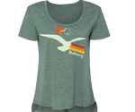 Rockaway Seagull Sunset Heather Green Tee