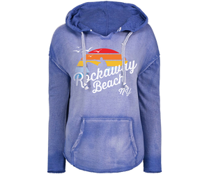 Rockaway Rainbow Surfer Super Soft Fleece Hoodie