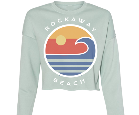 Rockaway Globe Sage Crop Fleece