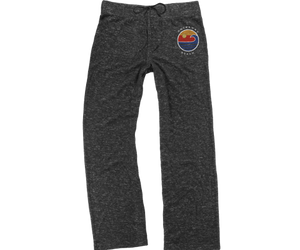 Rockaway Globe Heather Gray Fleece Cuddle Pants