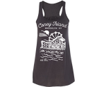 Coneytown Heather Gray Flowy Racer Tank