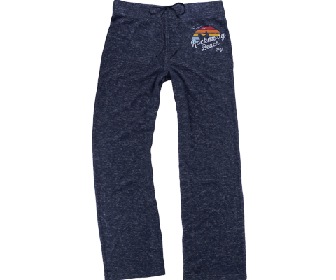 Rockaway Rainbow Surfer Heather Blue Fleece Cuddle Pants