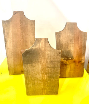 Wood Necklace Displays- set of 3