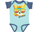 Rockaway Rad Cat Aqua & Blue Baby Onesie