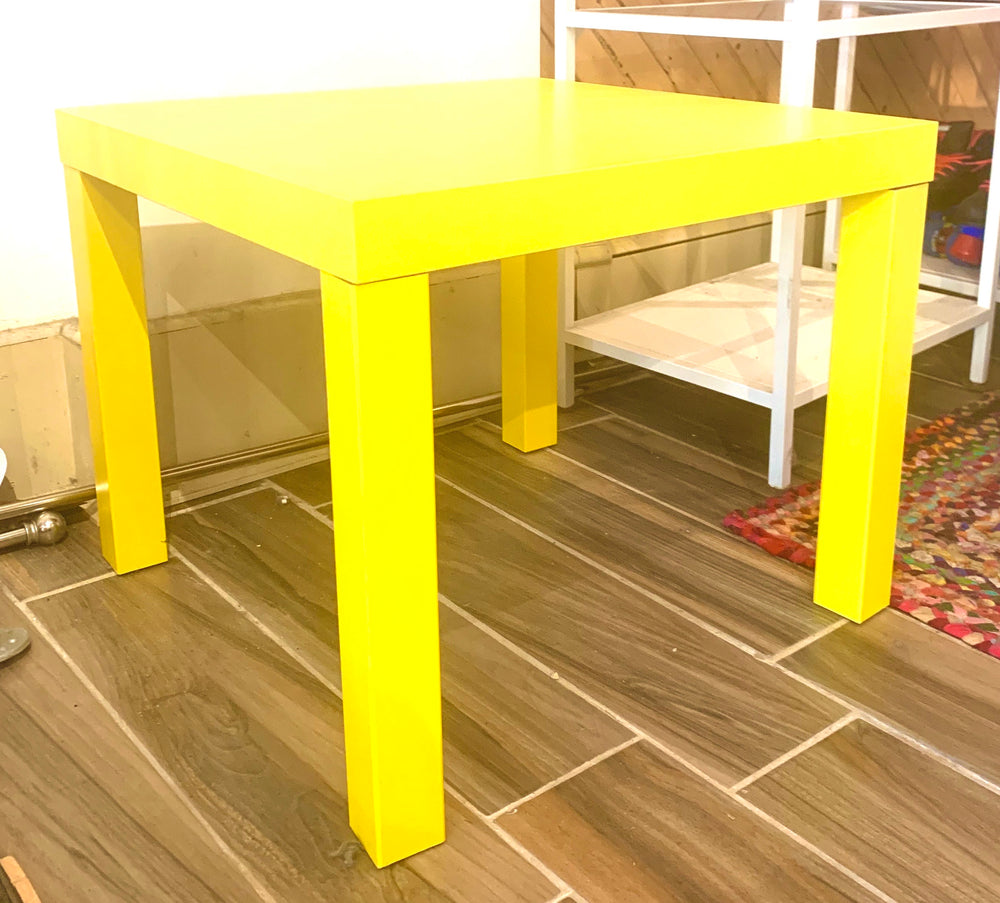 Cute Bright Yellow Table
